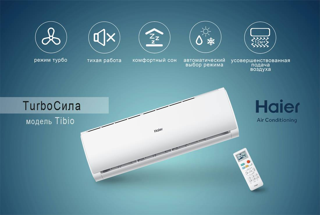 Haier Tibio inverter, R410, AS24TB3HRA / 1U24TR4ERA СОЛЕНСІ