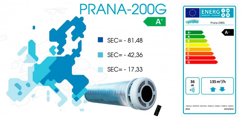 Рекуператор PRANA-200G СОЛЕНСІ